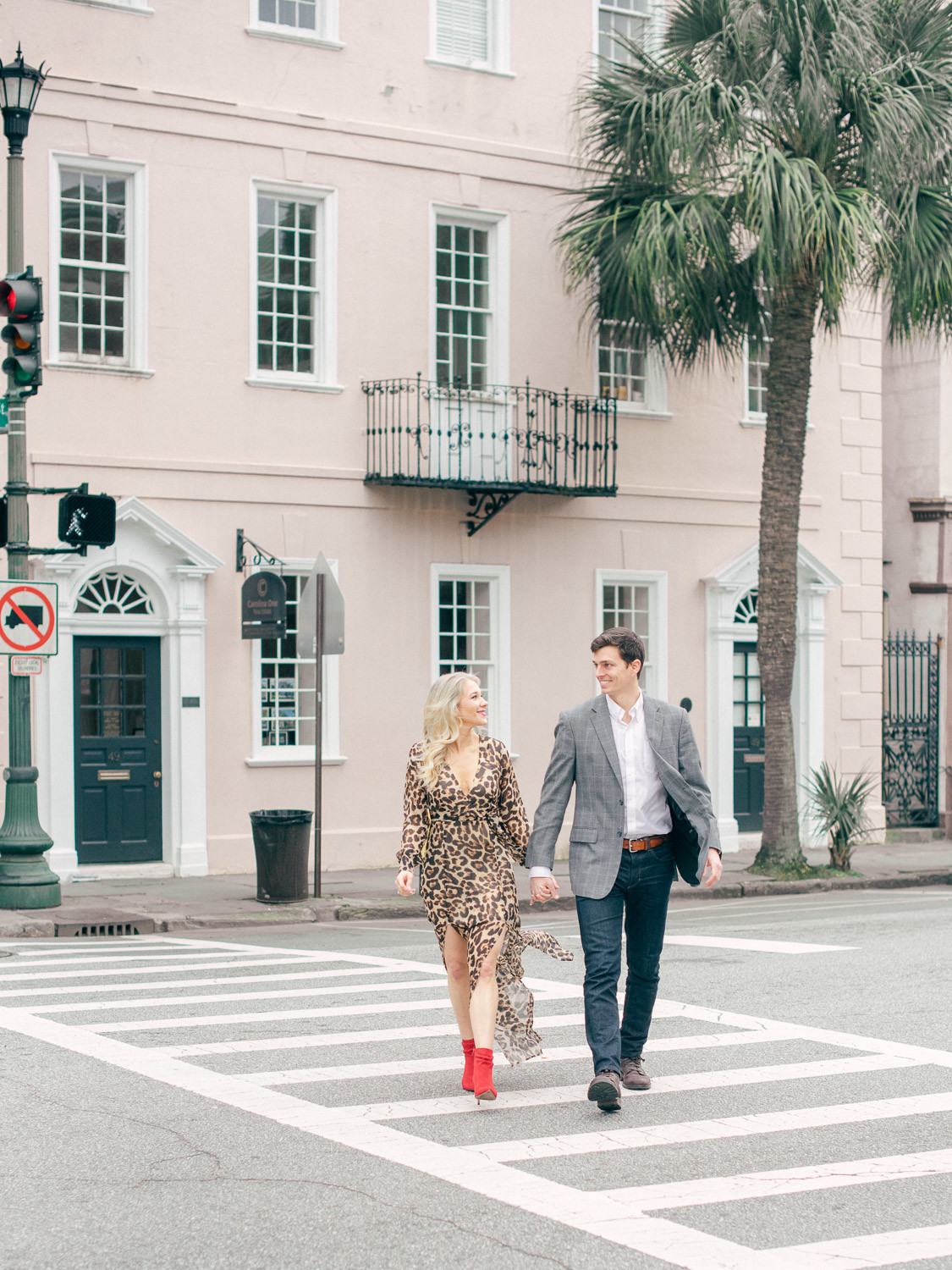 Virgil Bunao · Charleston Wedding Photographer Winter Engagement Session in Downtown Charleston